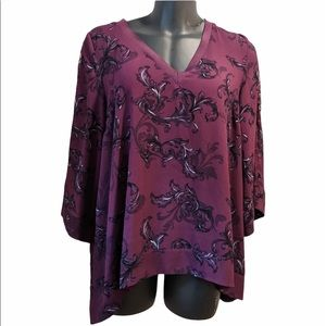 Love & Legend A line crepe tunic blouse sz 16